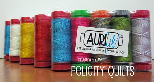 Aurifil Giveaway @ Felicity Quilts