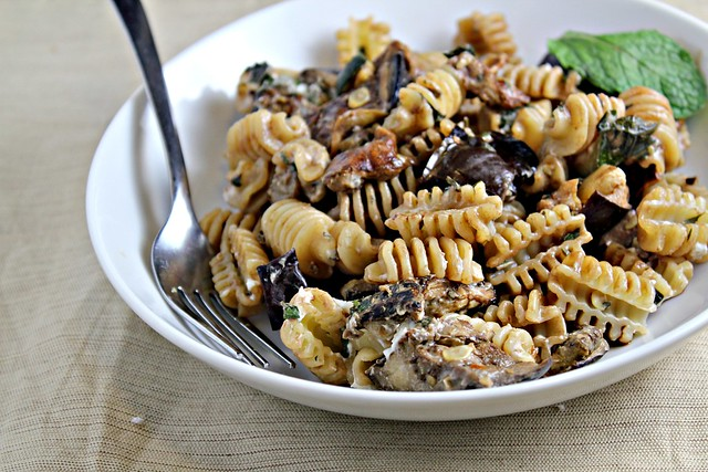 Pasta with Oven Roasted Eggplant, Zucchini, Goat Cheese and Mint ...