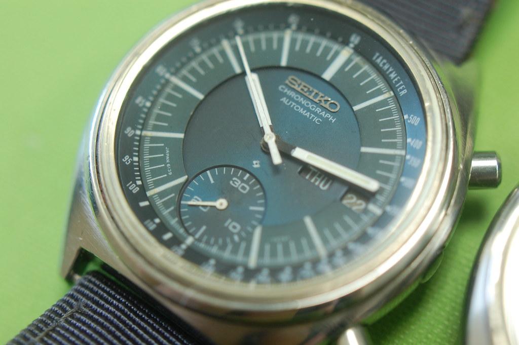 Seiko 6139-7070 Blue-Dial