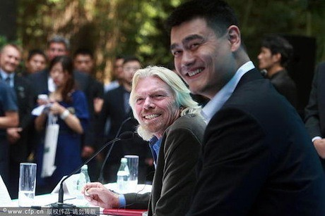 September 22nd, 2011 - Yao Ming and Richard Branson join forces in Shanghai to help protect sharks