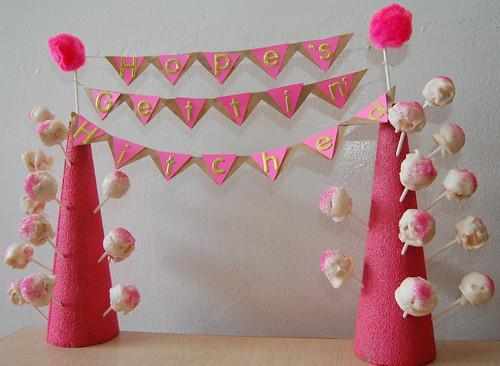 how to create a cake pop stand