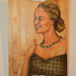 """<b>Remembering Grandma MN</b><br/> Gilbertson (LC '04) (Oil paint and collage on bread board, 2008)<a href=""""http://farm7.static.flickr.com/6178/6173624040_8539f48590_o.jpg"""" title=""""High res"""">∝</a>"""