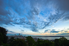 Seattle, Washington (Stefan Baudy) Tags: seattle sunset skyline washington kerrypark superwideangle nikon1424