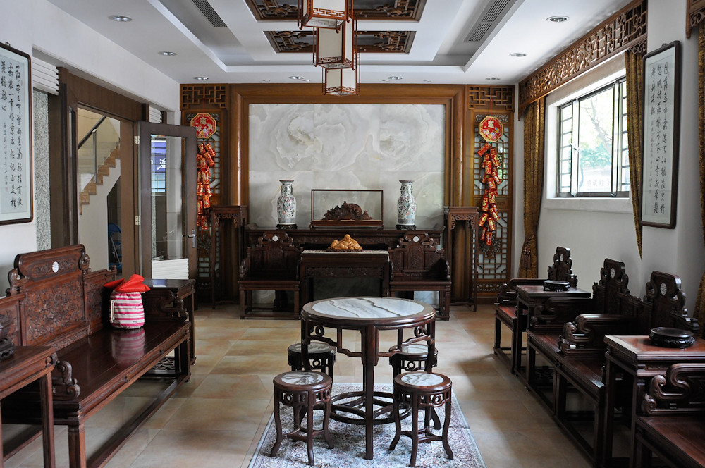 Traditional style Chinese furniture and paintings