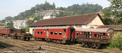 Kandy railway station (guillaumemichelet) Tags: old red colour abandoned station train canon rouge eos 350d rust gare railway sri lanka guillaume couleur kandy vieux rouille abandonné 2011 michelet