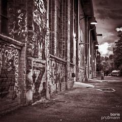 Old factory building at Kampnagel (Doc Bobo) Tags: germany blackwhite hamburg hdr unknownflash