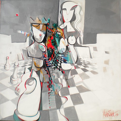 The Lady Wins - Painting - Cubism