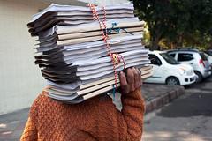 Files - Delhi, India (Maciej Dakowicz) Tags: street city people urban india person asia delhi capital files documents bureaucracy paperwork officeworker