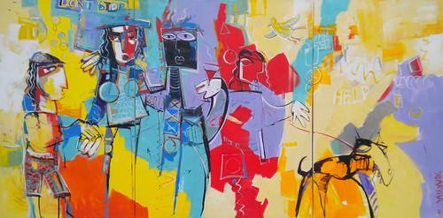 La Familia - Painting - Cubism