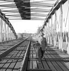 September 24, 1961 (National Library of Ireland on The Commons) Tags: ireland bridges trains september 1960s railways athlone 1961 westmeath nationallibraryofireland athlonebridge jamespodea odeacollection harryengland