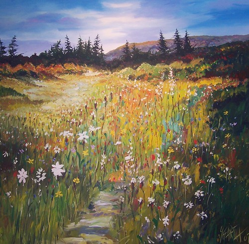 Wild Flowers - Painting - Impressionism Realism