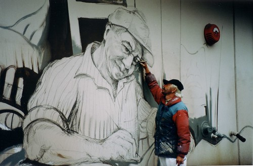 Native Sculptor - Mural by Paul Ygartua