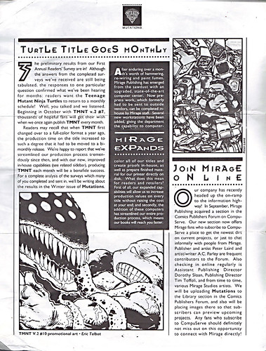 MIRAGE PUBLISHING :: 'MUTATIONS' newsletter iii (( 1994 )) //