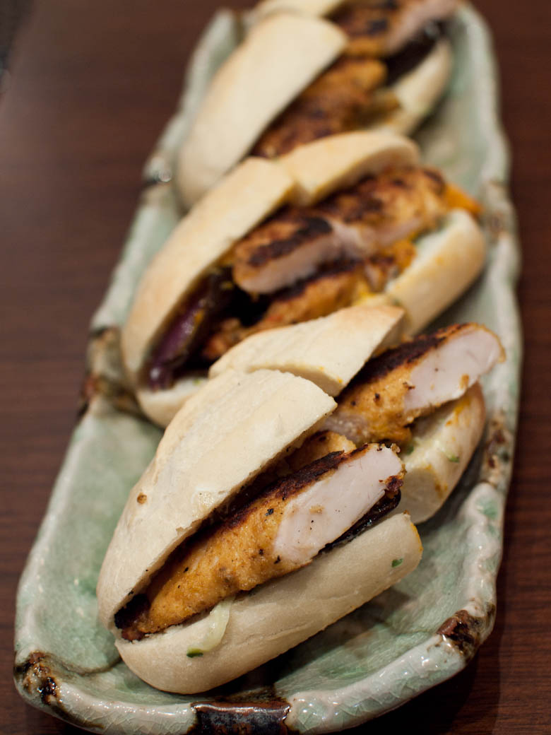 Dahon Tea Lounge - Spiced crumbed chicken baguette