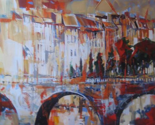 Le Pont - Painting - Impressionism