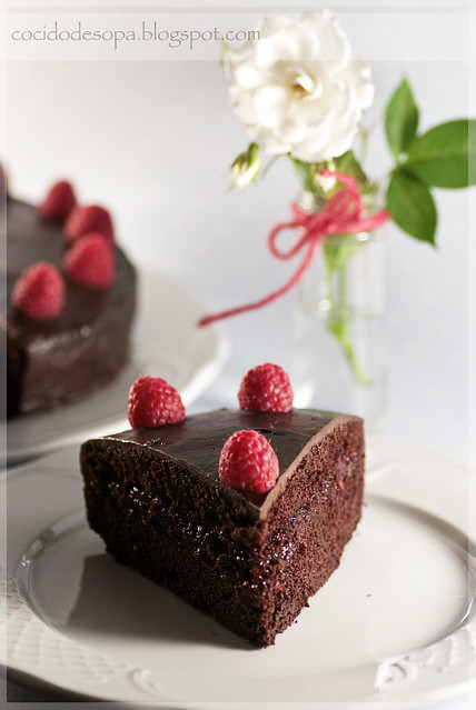Tarta de chocolate y frambuesa_2