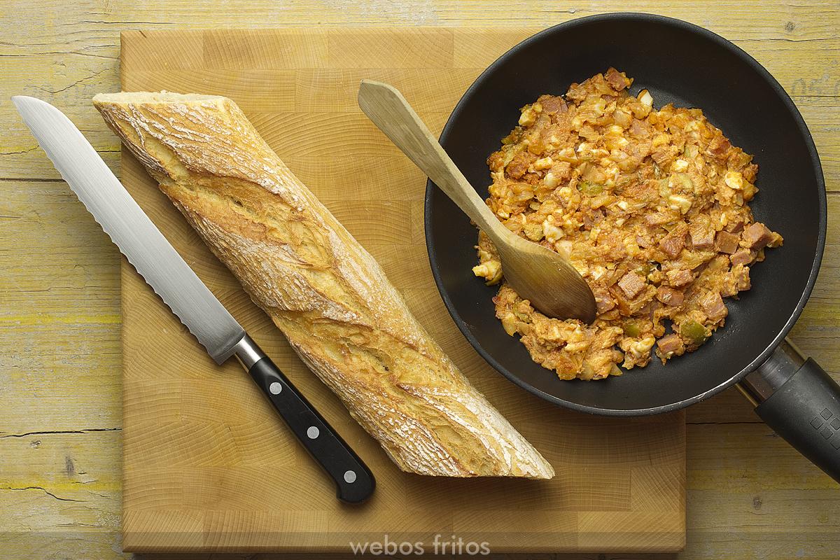 Relleno para el pan relleno