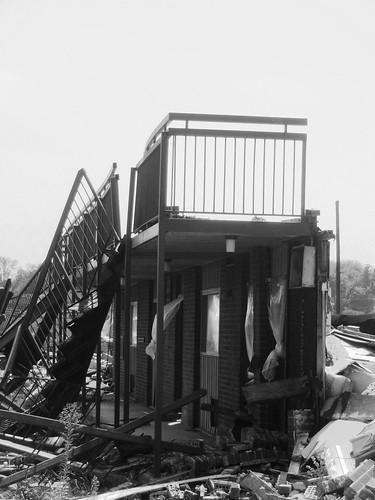 wall, stairs, balcony, railing