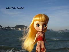 Ivy pegando uma brisa do mar!!