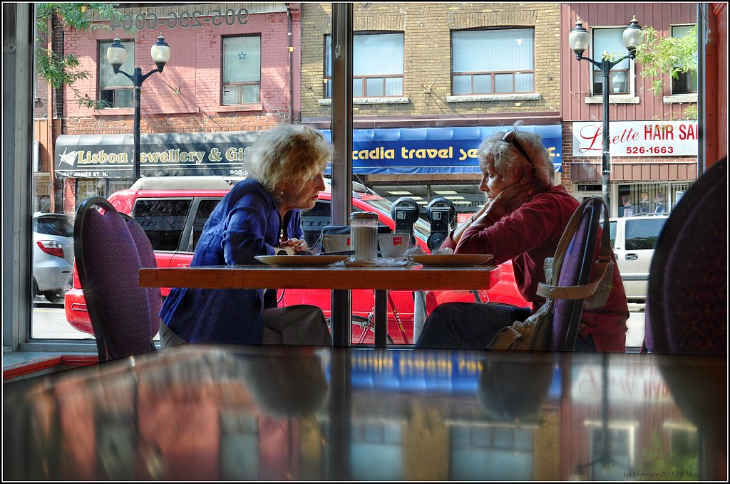 Coffee And Conversation - HDR (Hybrid)