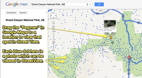 Grand Canyon National Park in Google Maps