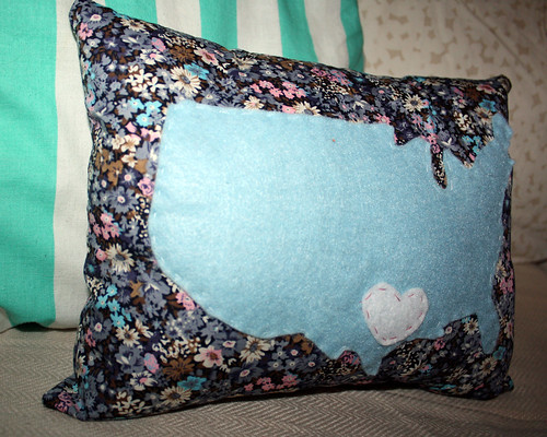 My Latest Obsession DIY US Map Pillow