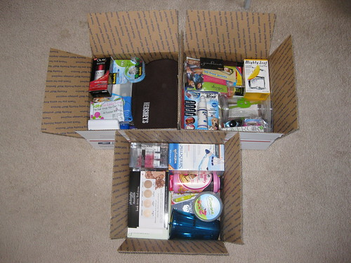 BlogHer swag giveaway boxes