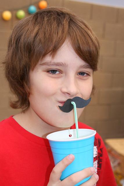 Mustache drinking straws {brighton}