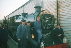Dawlish Donkey finale,2002 (56074 Kellingley Colliery) Tags: 2002 two st pose season paul other with geoff donkey run any help burns crew final exeter be after grateful would left davids drivers the dawlish ewans 76079 iding