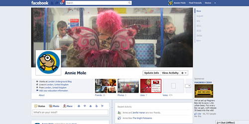 Annie Mole's New Facebook Timeline