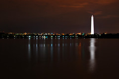 The Obelisk at Night (Seth Oliver Photographic Art) Tags: nightphotography landscapes iso200 dc washington nikon nightimages cityscapes nightshots pinoy nightscapes urbanscapes tidalbasin longexposures travelphotography dcatnight nightreflections nightexposures d40 bulbexposures thenationalmonument theobelisk aperturef110 washingtondcatnight straightenedhorizon manualmodeexposure setholiver1 remotetriggeredshot vacationimages ballheadtripodmountedshot vrmodeoff 304secondexposure 18105mmnikkolens
