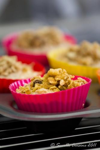 Muffins Integrais de Muesli e Pêra /whole wheat muesli pear muffins