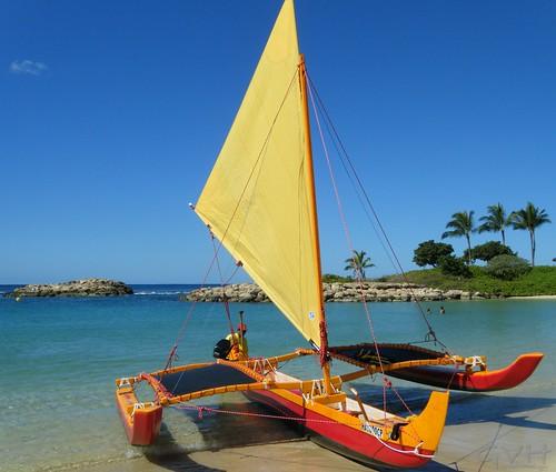Outrigger Sailing Canoe - Hawaiian Ocean Adventures