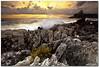 honey sunrise (chris frick) Tags: morning sea castle sunrise dawn coast waves cliffs filter lee sicily rays sanvitolocapo canonef1635mmf28lusm chrisfrick canoneos5dmark2 075hard