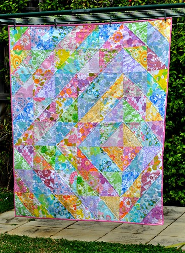 Ella's quilt on the line