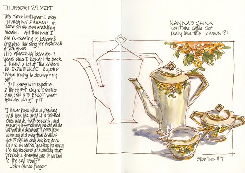 110929 Nannas China- Noritake Coffee Set by borromini bear