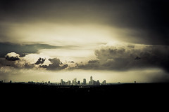 In The Air Tonight (mynamesdonny) Tags: city our light sky rain skyline clouds austin landscape nikon texas view daily coolpix challenge odc s8100 odc3