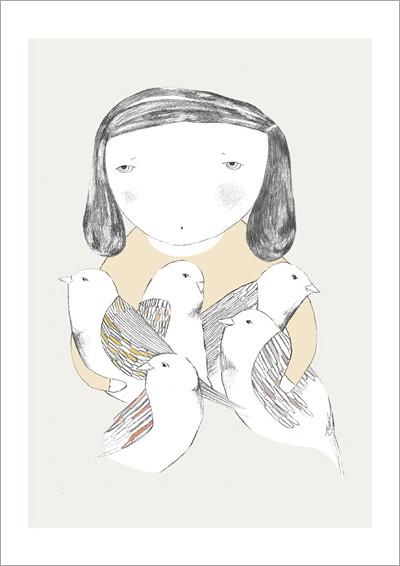 Birdgirl_A4 print
