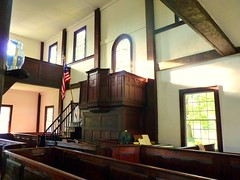 Forty Fort Meeting House 014 (di_the_huntress) Tags: light colonial pews pulpit fortyfortmeetinghouse musictomyeyeslevel1