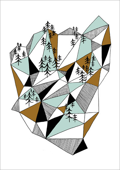 geometric mountain_A4 print