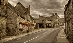Stonework Village (Steve's Photography :-)) Tags: road street uk houses house buildings nikon village stonework dorset d200 wareham corfecastle 3shothdr steveclancy