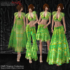DNR Tropica Collection LandScape Poster Green (designingnickyree) Tags: pants jacket bikini dresses gowns swimwear nickyree slfashion resortfashion