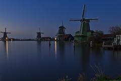 Windmills of the Zaanse Schans (Marco Sombroek) Tags: holland netherlands windmill night dark nacht nederland clear zaanseschans noordholland molens zaan zaanstreek topshots photosandcalendar worldwidelandscapes panoramafotogrfico theoriginalgoldseal flickrsportal