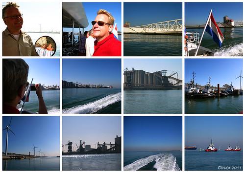 Hoek van Holland, Fast Ferry (RET) en Nieuwe Waterweg by Marcel van Gunst