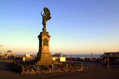 Peace Statue, Brighton (Beppie K) Tags: uk england sky sculpture art beach brighton unitedkingdom southcoast pavillion bloodytourists peacestatue iamoneofthebloodytourists