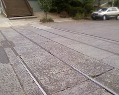 Long-abandoned Portland-gauge trackage in east Portland