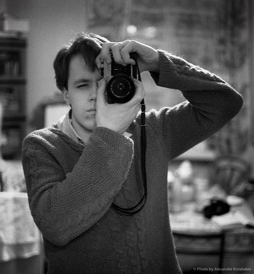 self-portrait 1987 © Photo by Alexander Kondakov