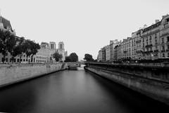 calm in Paris (DominiqueDecotter) Tags: paris blakandwhite bwphotography saintmichelnikon