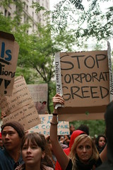 occupy stop corporate greed