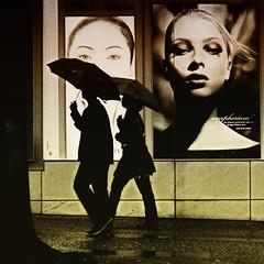 Perfect Two (. Jianwei .) Tags: street wet rain silhouette vancouver umbrella mood candid pair streetlife 365 book2  a500 jianwei  kemily TGAM:photodesk=silhouette2011